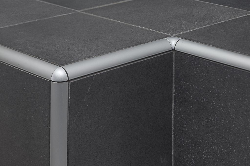 Protrim ra profilo angolare jolly in alluminio per ceramica - Angolari per piastrelle ...