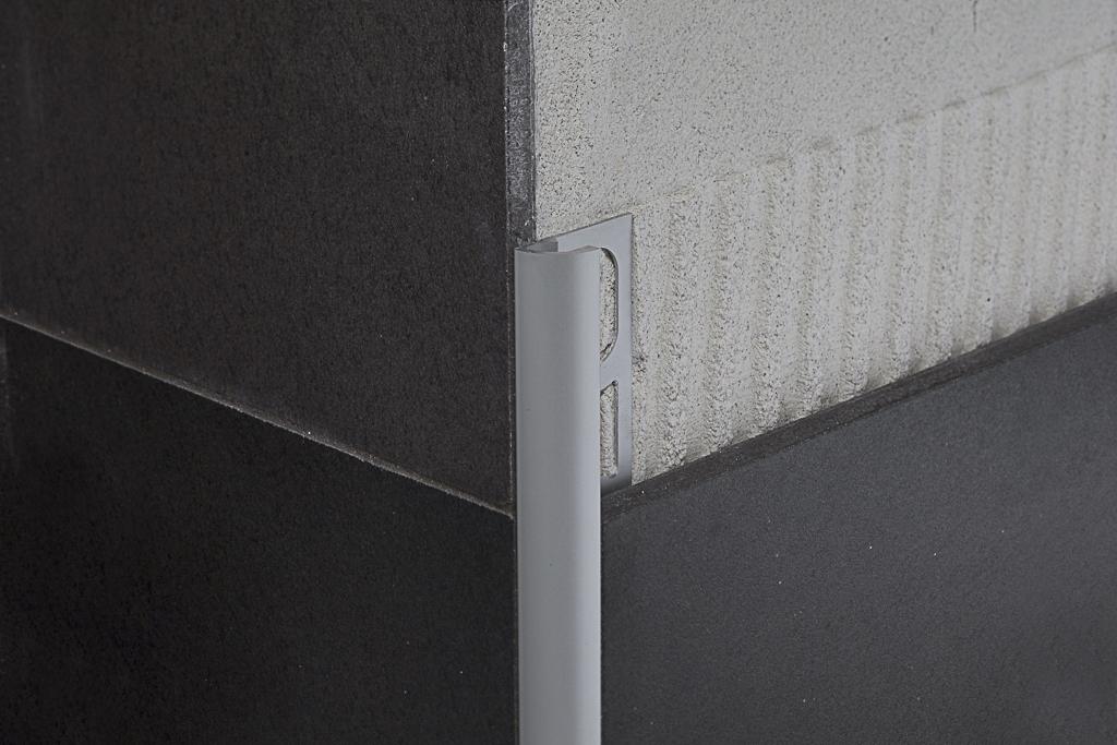 Protrim ra profilo angolare jolly in alluminio per ceramica - Profili acciaio per piastrelle prezzi ...