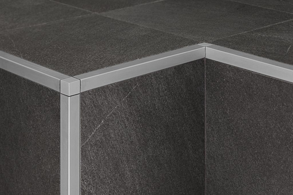Proangle q zqan profilo angolare in alluminio - Profili jolly per piastrelle ...