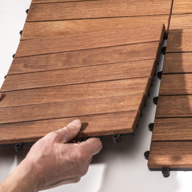 Pavimento fai da te in legno a quadrotti in offerta - Pavimento in legno per esterno fai da te ...