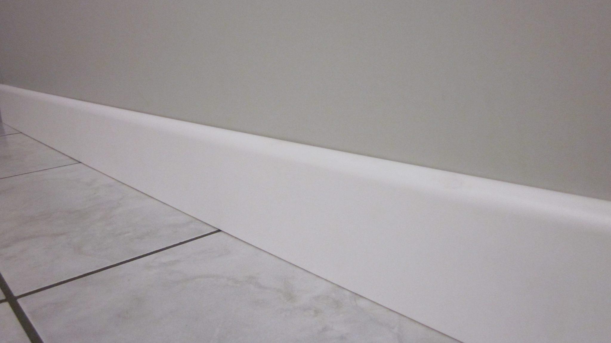 Battiscopa In Legno Bianco battiscopa in legno bianco 7 cm - mdf impiallacciato in carta melaminica